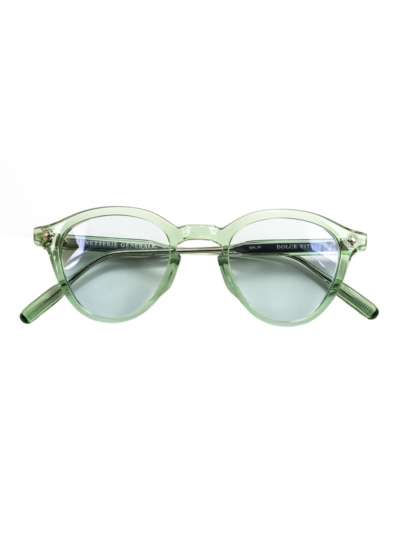 Bold Rounded Sunglasses in Emerald Crystal