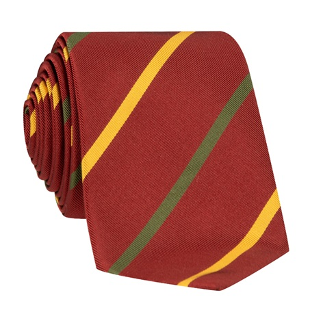 Mogador Double Bar Striped Tie in Ruby