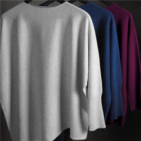 Ladies Cashmere Asymmetric Sweaters