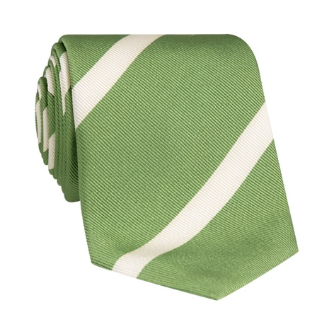 Mogador Bar Striped Tie in Sage