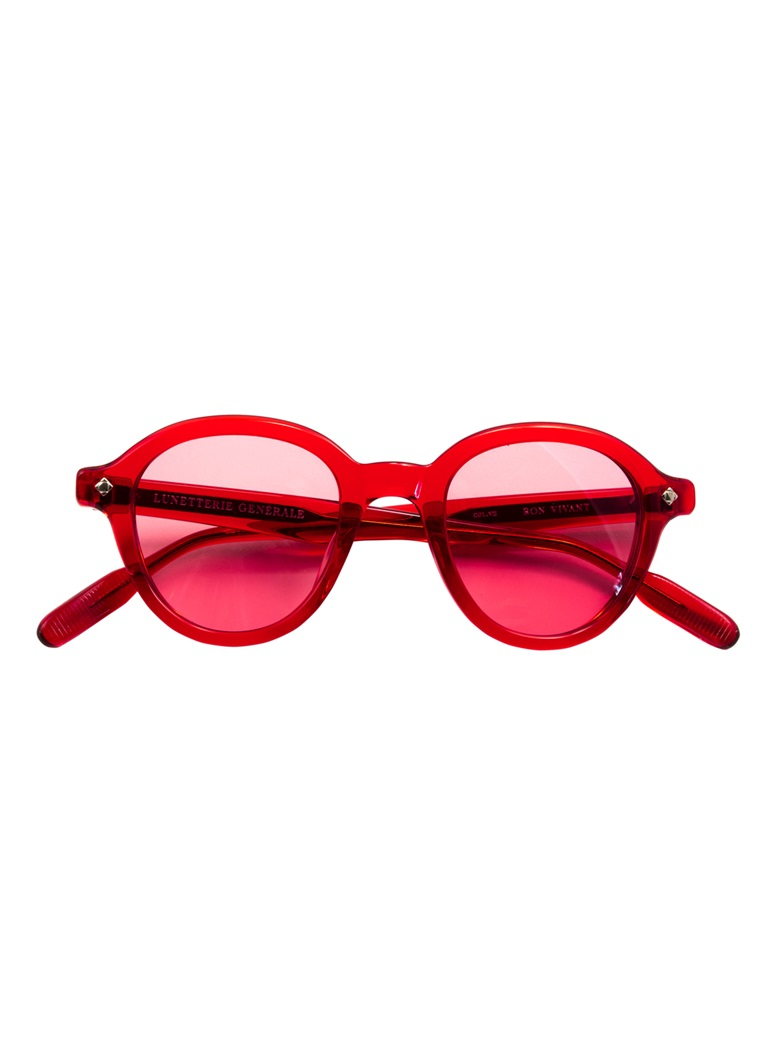 Bold Sunglasses in Red Crystal