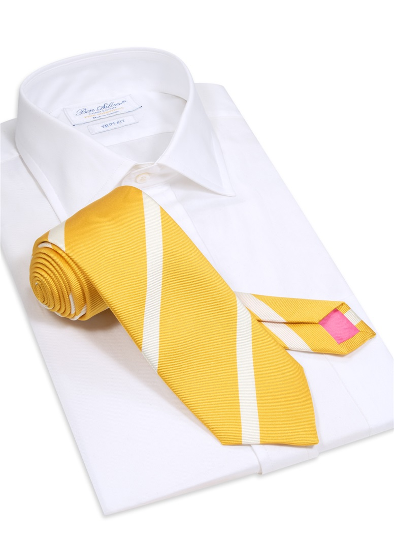 Mogador Bar Striped Tie in Yellow