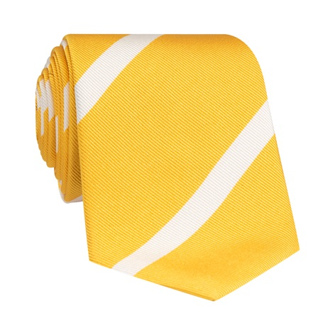 Mogador Bar Striped Tie in Yellow