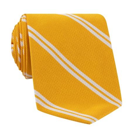Mogador Silk Double Bar Stripe Tie in Sun