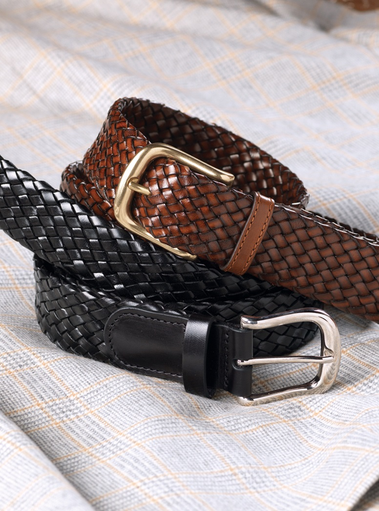 Basketweave Leather Belts