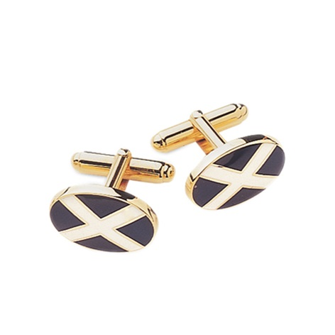 St. Andrew's Cross Cufflinks