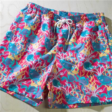 Coral Reef Printed Swim Trunks