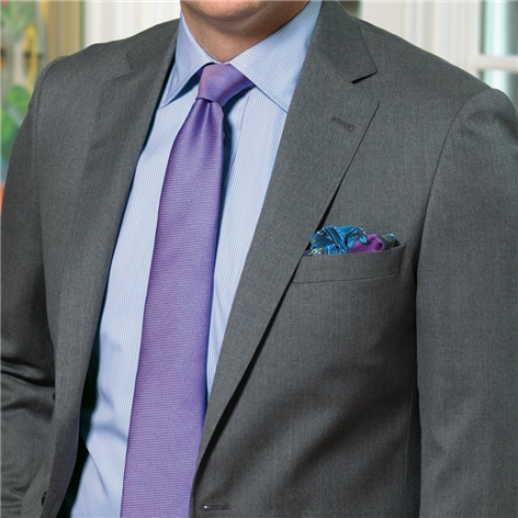 Medium Grey Suit in Super 100s Wool