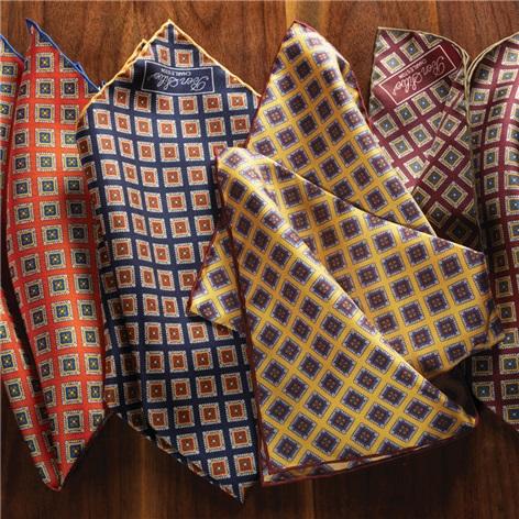 Silk Diamond Printed Pocket Squares