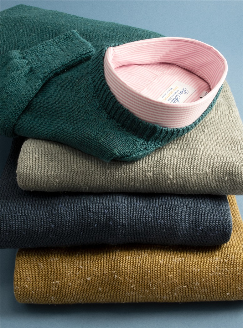 Linen and Silk Crewneck Sweaters