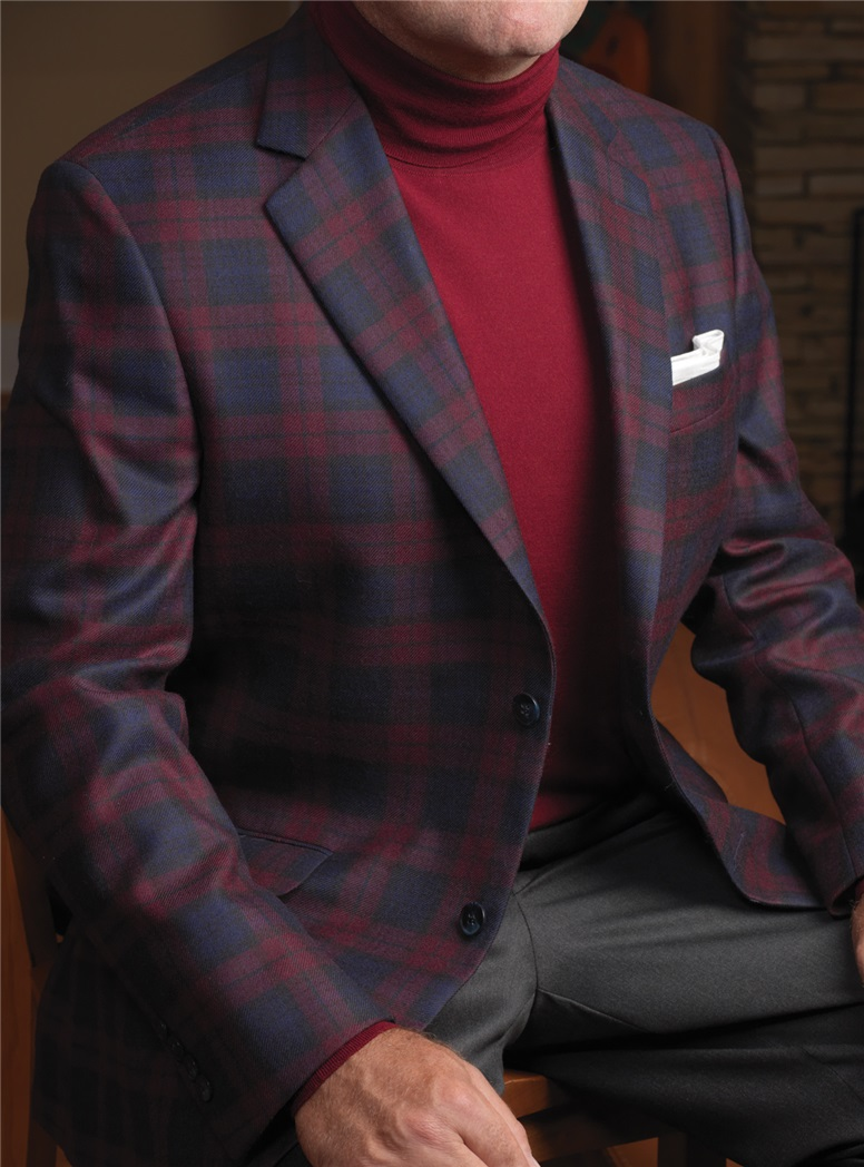 Red Watch Tartan Sport Coat in Pure New Wool