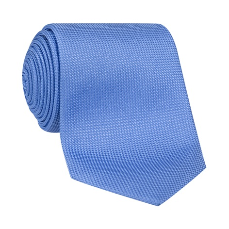 Silk Basketweave Tie in Cornflower Blue