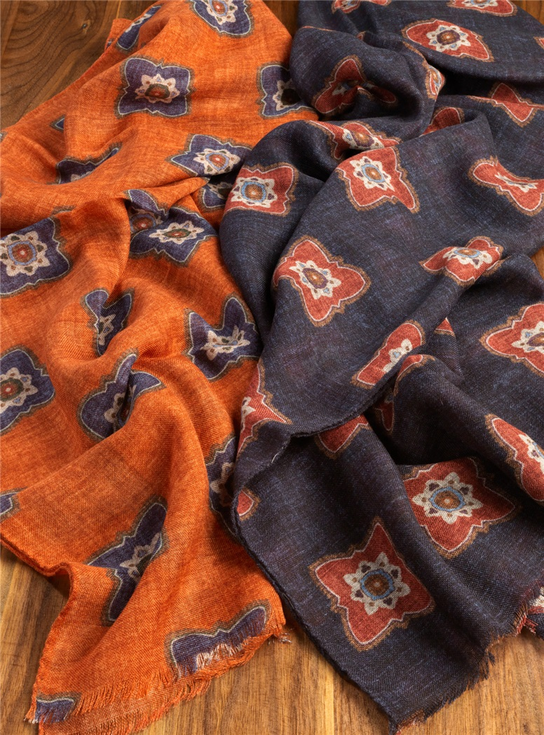 Wool Diamond Printed Scarves