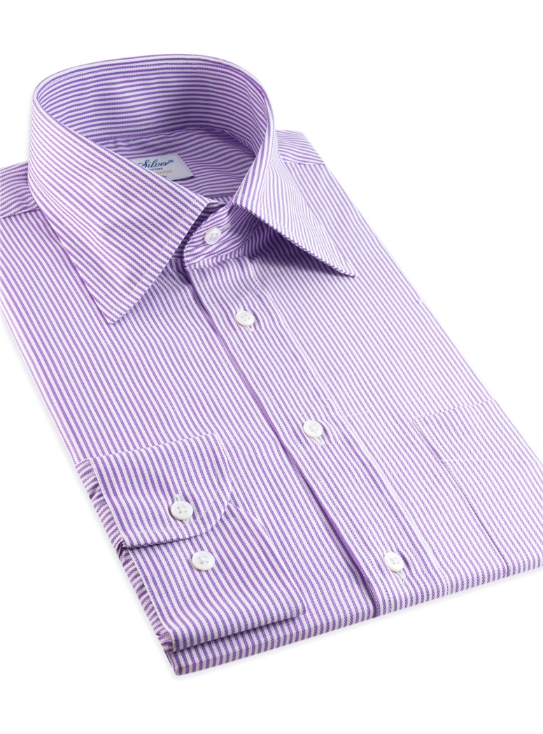 170's Purple and White Bengal Stripe Kelly Collar