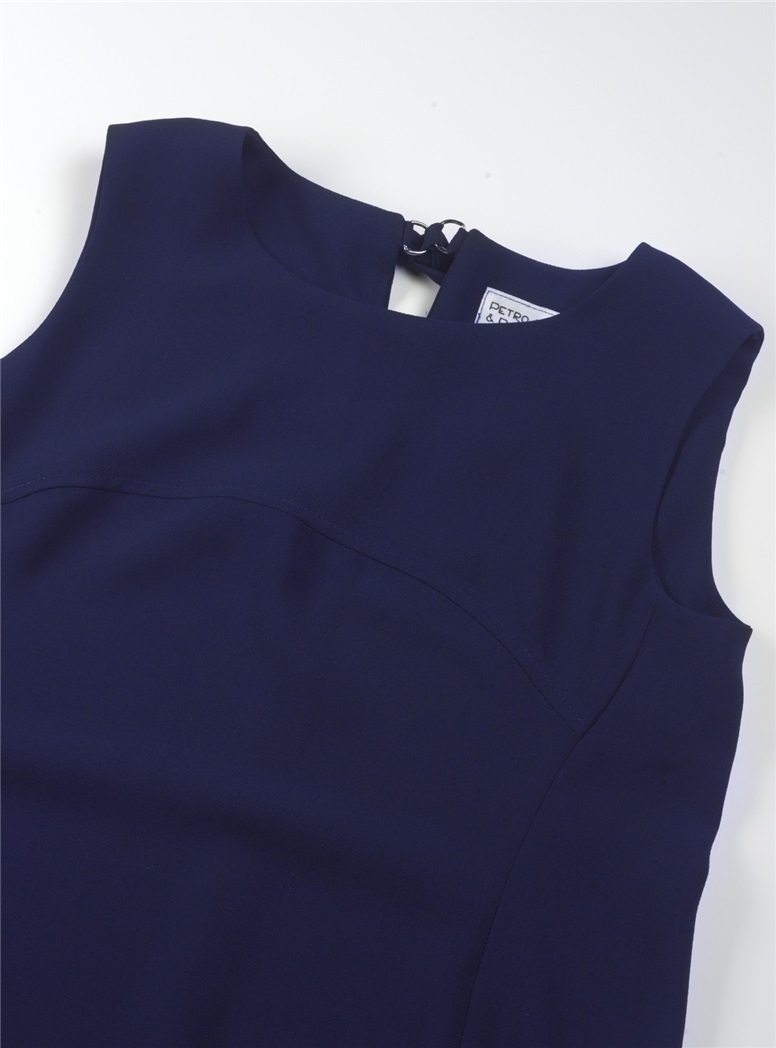 Ladies Crepe Shell in Navy