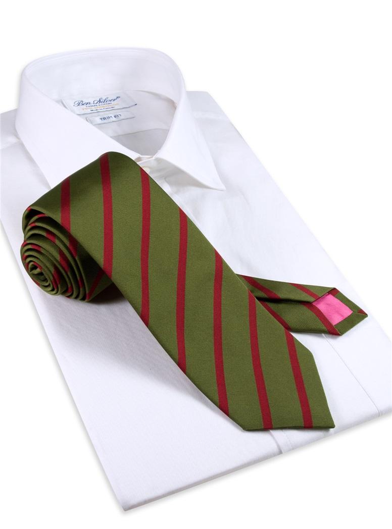 Mogador Striped Tie in Fern
