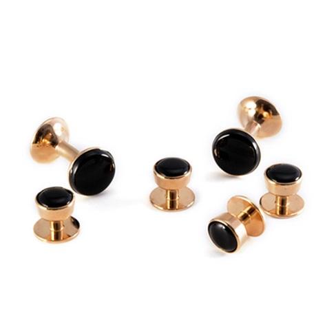 Rose Gold Onyx Formal Wear Set