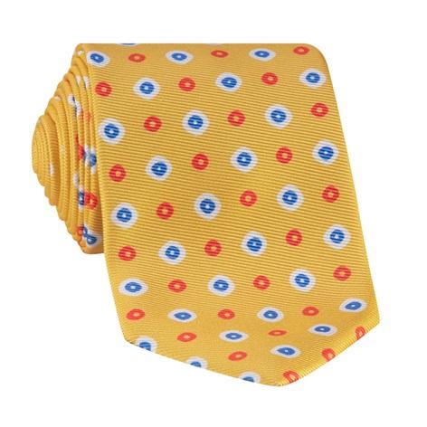 Silk Neat Printed Tie in Sun
