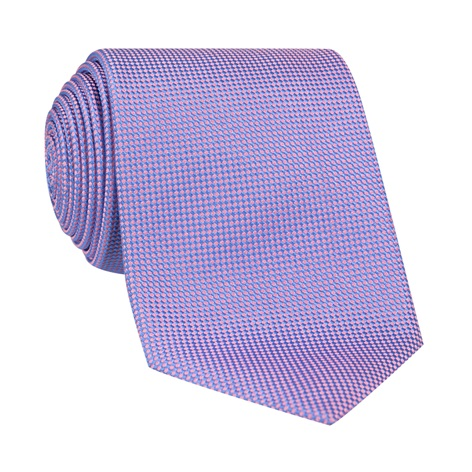 Silk Basketweave Tie in Lilac