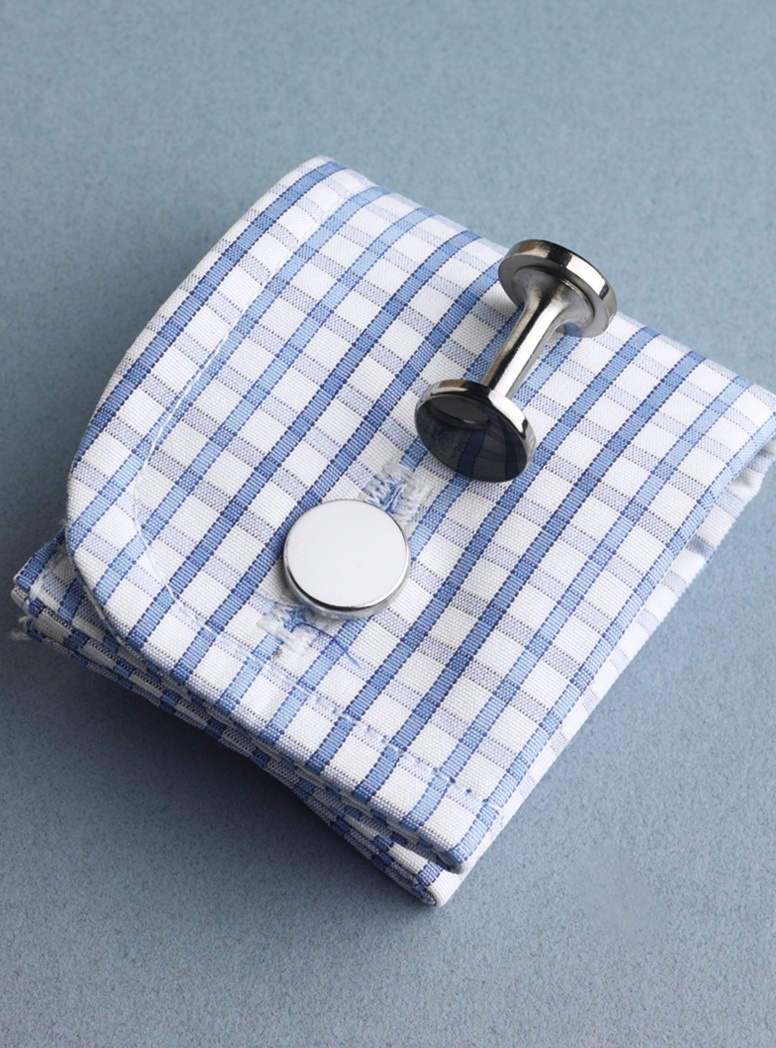 Double-Ended Cufflinks in Black and White