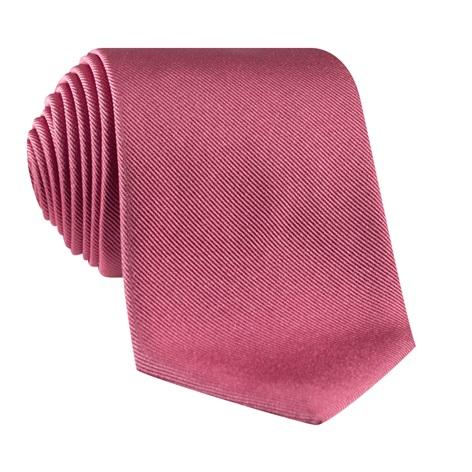 Silk Solid Signature Tie in Coral