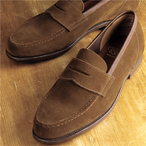 The Harvard Loafer in Snuff Suede