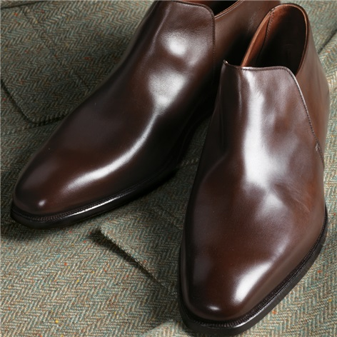 The Kempton Slip-on in Brown Calfskin