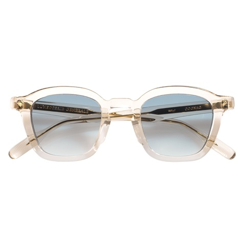 Bold Semi-Round Sunglasses in Smoked Crystal