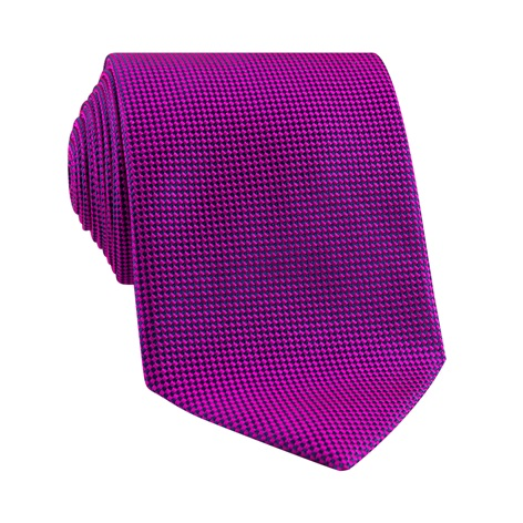 Silk Basketweave Tie in Magenta