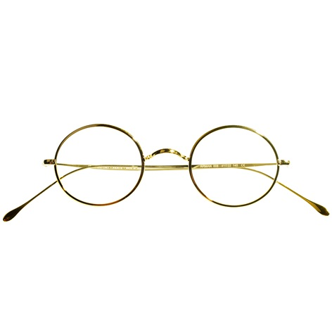Round Wire Frame in Yellow Gold