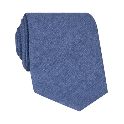 Silk and Cashmere Solid Tie in Cornflower