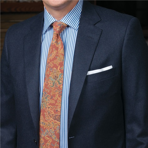 Mid-Blue Mélange Flannel Suit
