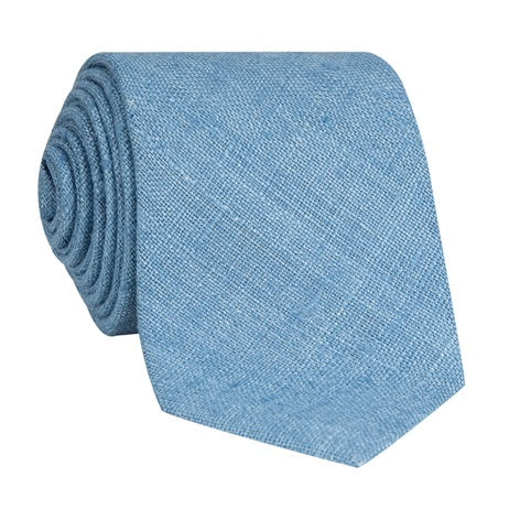Silk Shantung Tie in Cornflower