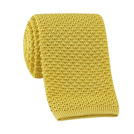 Classic Silk Knit Tie in Gold