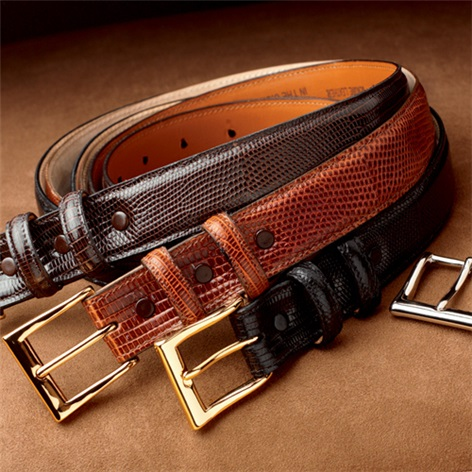 Java Lizard Belts With Interchangeable Buckles