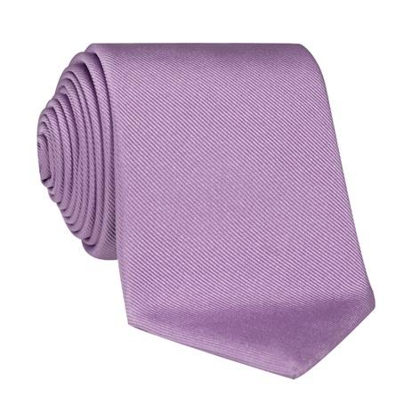 Silk Signature Solid Tie in Lavender