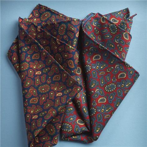 Silk Paisley Printed Pocket Squares