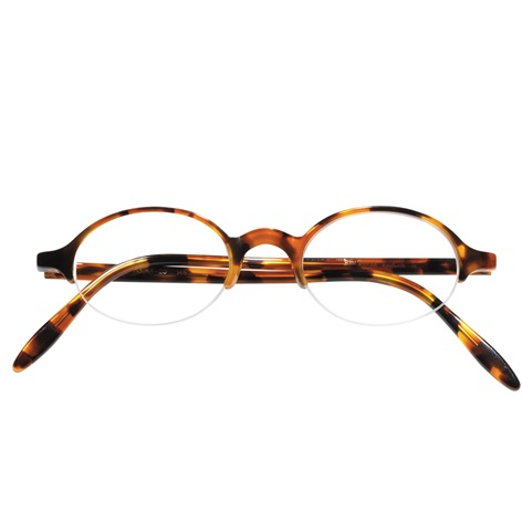 Semi-rimless Oval Frame in Tortoise