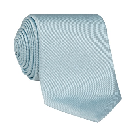 Silk Signature Solid Tie in Sky